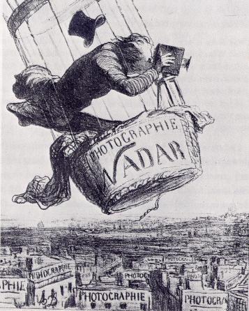 Honoré Daumier, Nadar elevant la Photographie a la hauteur de l'art, 1863, lithographe